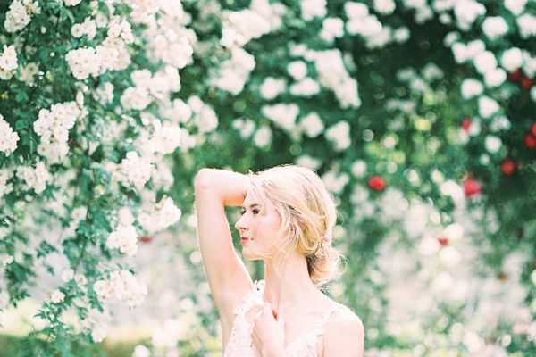 Abbey de Morienval Garden Boudoir Session