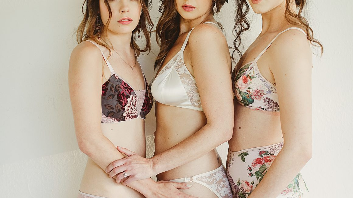 Floral Victorian Girl Party with Lingerie